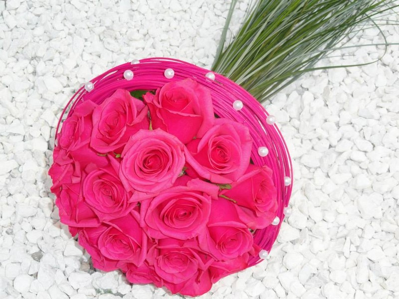 Bouquet Rose Boule Decoration