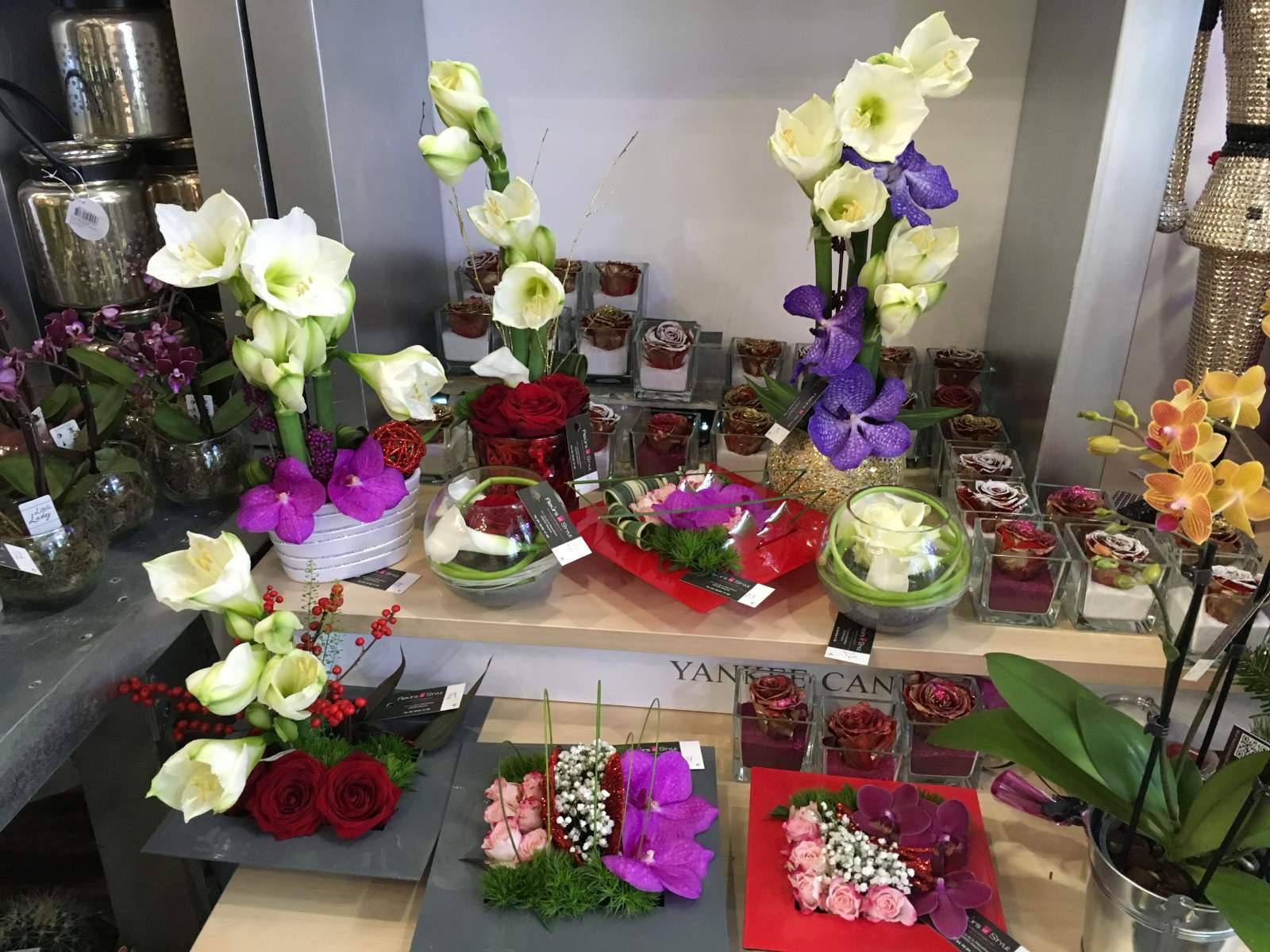 fleurs bouquets compositions florales pour no l meyzieu et alentours vente de fleurs et. Black Bedroom Furniture Sets. Home Design Ideas